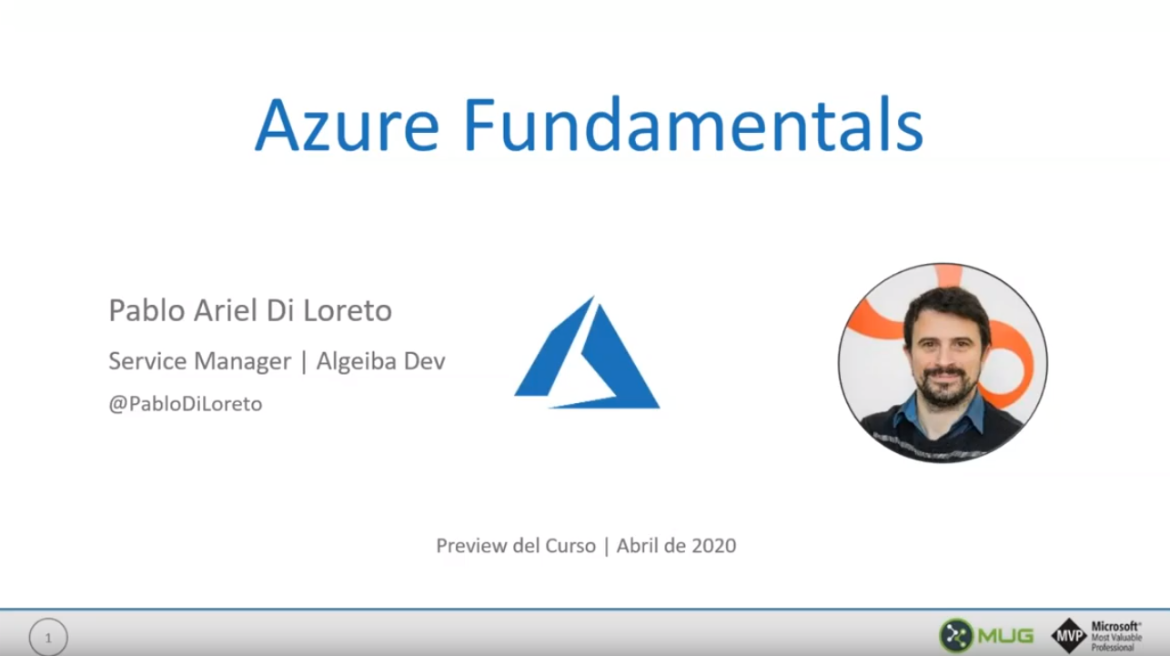 "Introducción a Azure Fundamentals – MUG 2020/04 <span class=""bsf-rt-reading-time""><span class=""bsf-rt-display-label"" prefix=""Reading Time""></span> <span class=""bsf-rt-display-time"" reading_time=""2""></span> <span class=""bsf-rt-display-postfix"" postfix=""mins""></span></span><!-- .bsf-rt-reading-time -->"