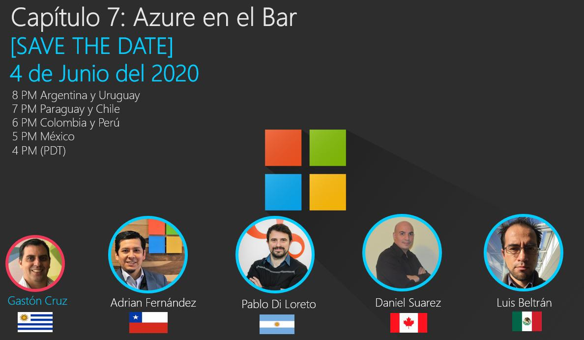 "Azure en el Bar: una charla con amigos <span class=""bsf-rt-reading-time""><span class=""bsf-rt-display-label"" prefix=""Reading Time""></span> <span class=""bsf-rt-display-time"" reading_time=""1""></span> <span class=""bsf-rt-display-postfix"" postfix=""mins""></span></span><!-- .bsf-rt-reading-time -->"